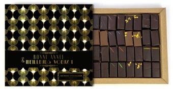 Coffret 32 chocolats bonne année et meilleurs voeux