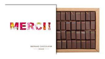 Coffret 32 chocolats miels merci