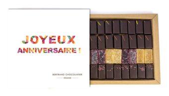 Coffret 32 chocolats plaisirs Roannais joyeux anniversaire