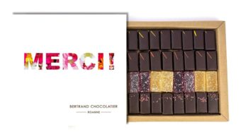 Coffret 32 chocolats plaisirs Roannais merci