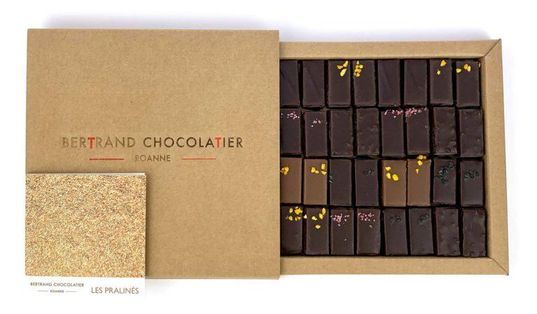 Coffret 32 chocolats pralinés