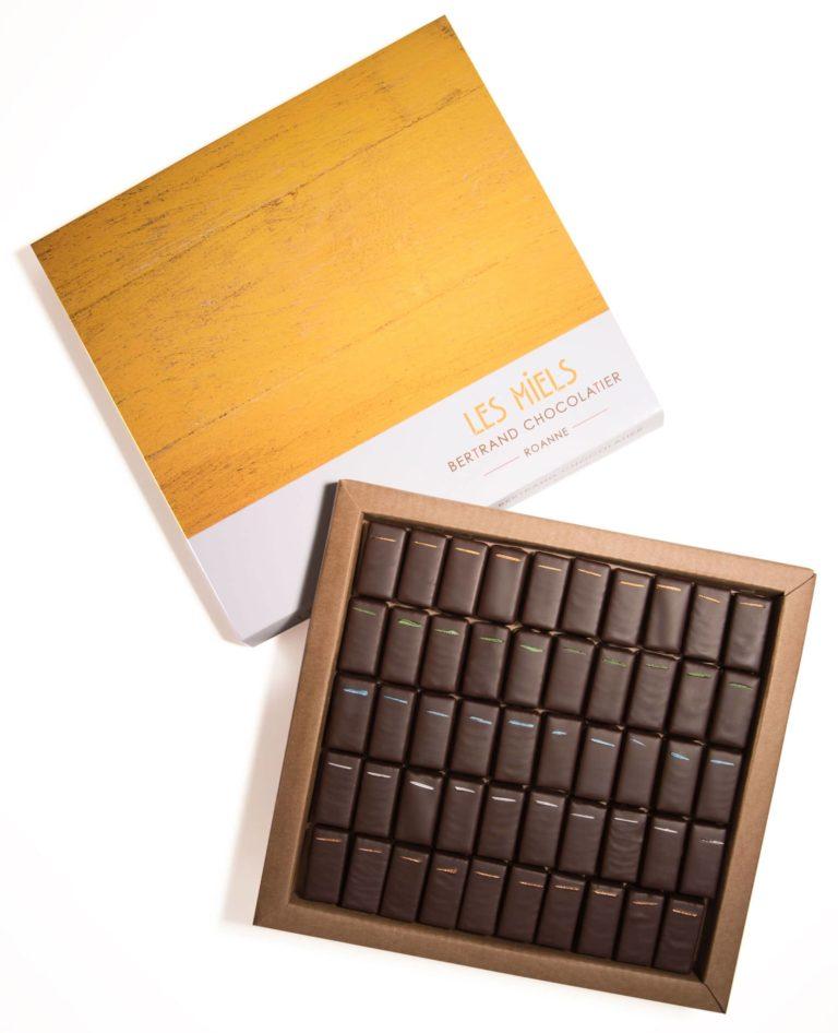 Coffret 50 chocolats miels