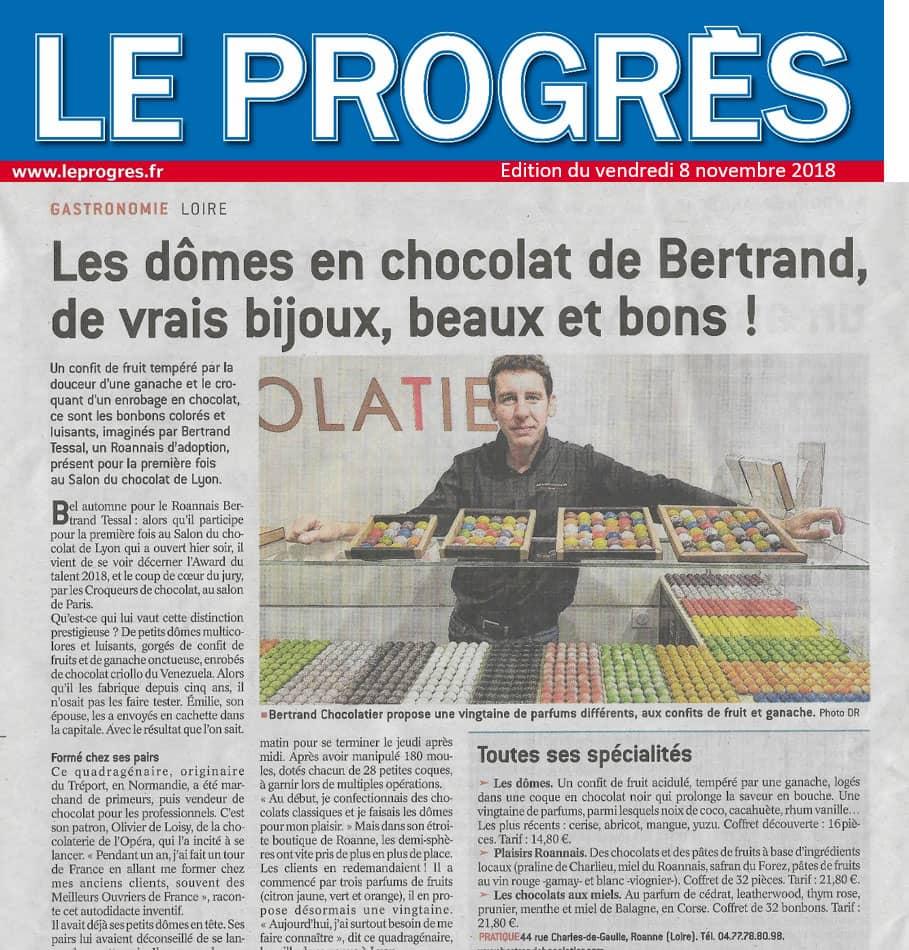 Bertrand Chocolatier est présent dans le Progrès