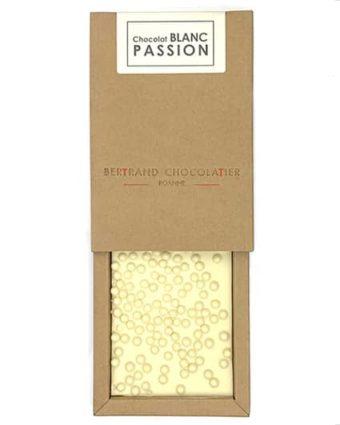 Tablette chocolat blanc passion