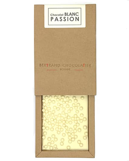 Tablette chocolat blanc passion