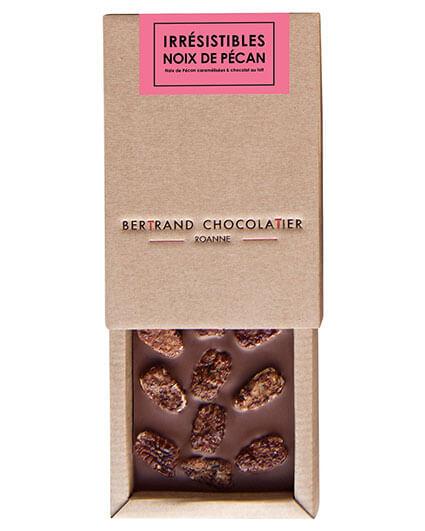 Tablette chocolat lait noix de pécan