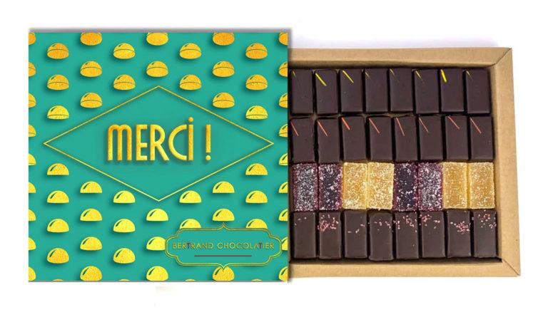 Coffret 32 chocolats Plaisirs Roannais