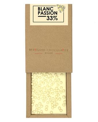 Tablette chocolat blanc passion - Bertrand Chocolatier