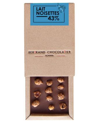 Tablette chocolat lait noisettes - Bertrand Chocolatier
