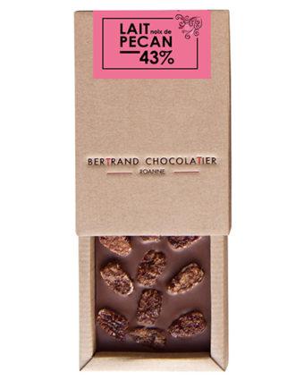 Tablette chocolat lait pécan - Bertrand Chocolatier