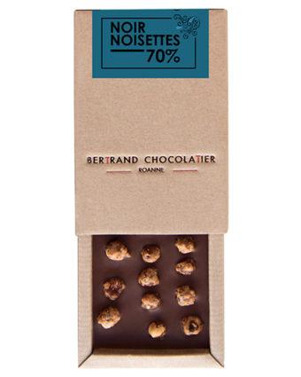 Tablette chocolat noir noisettes - Bertrand Chocolatier