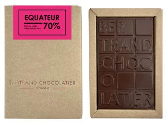 Tablette chocolat noir Équateur - Bertrand Chocolatier