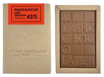 Tablette chocolat lait Madagascar - Bertrand Chocolatier