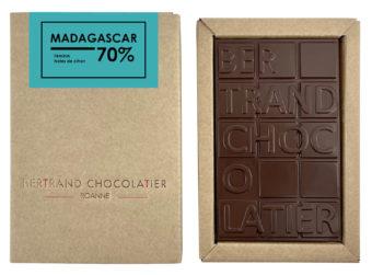 Tablette chocolat noir Madagascar - Bertrand Chocolatier