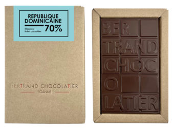 Tablette chocolat noir République Dominicaine - Bertrand Chocolatier