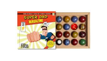 Coffret 16 dômes Super Dad Magazine