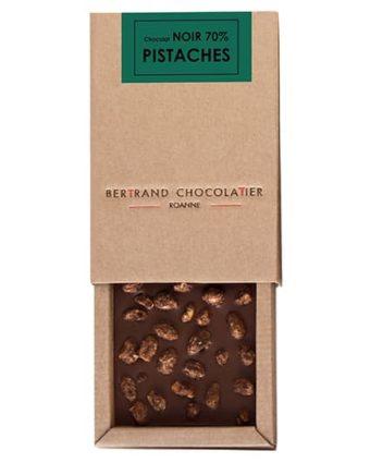 Tablette gourmande chocolat noir pistaches