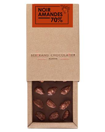 Tablette chocolat noir amandes - Bertrand Chocolatier