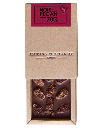 Tablette chocolat noir pécan - Bertrand Chocolatier