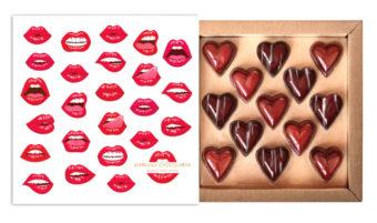Coffret 13 coeurs baisers