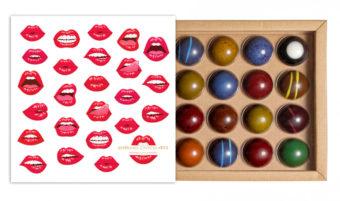 Coffret 16 dômes baisers