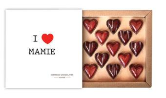 Coffret 13 coeurs I love Mamie