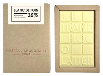 Tablette chocolat blanc de foin - Bertrand Chocolatier