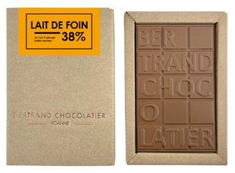 Tablette chocolat lait de foin - Bertrand Chocolatier