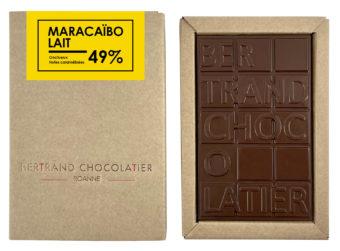 Tablette chocolat lait Maracaïbo - Bertrand Chocolatier